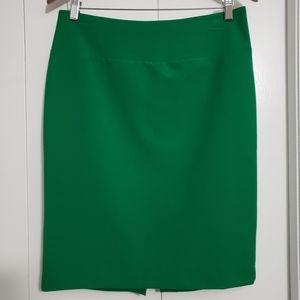 Ellen Tracy emerald green pencil skirt size 6